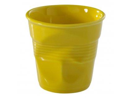 Kelímek na espresso 8 cl žlutá Seychely Froissés