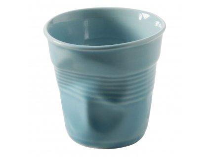 Kelímek na cappuccino 18 cl karibská modř Froissés
