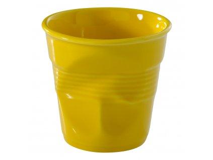 Kelímek na cappuccino 18 cl žlutá Seychely Froissés