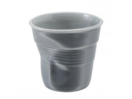 Kelímek na espresso 8 cl šedá Froissés