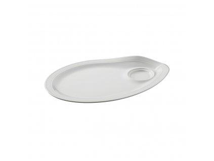 gourmand saucer for espresso cappuccino white 26 x 18 cm