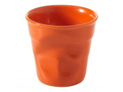 Kelímek na espresso 8 cl pomerančová Froissés