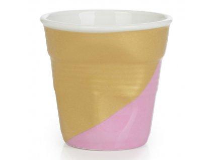 Kelímek na espresso 8 cl Twist Pink Down Froissés