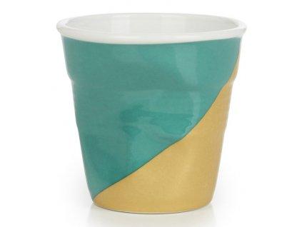 Kelímek na espresso 8 cl Twist Green Up Froissés