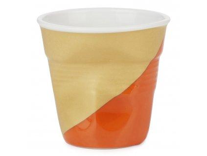 Kelímek na espresso 8 cl Twist Orange Down Froissés