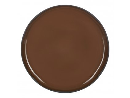 Jídelní talíř hnědý Tonka CARACTERE