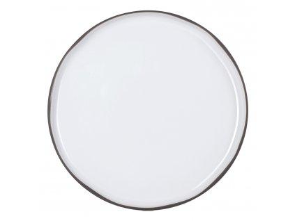 Velký jídelní talíř bílý White Cumulus CARACTERE
