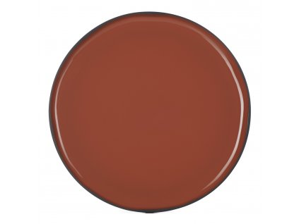Servírovací talíř kulatý skořicový Cinnamon CARACTERE REVOL