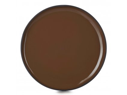 Dezertní talíř hnědý Tonka CARACTERE