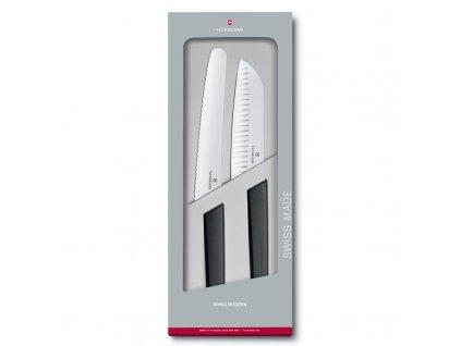 Sada nožů Victorinox Swiss Modern 2 ks černá