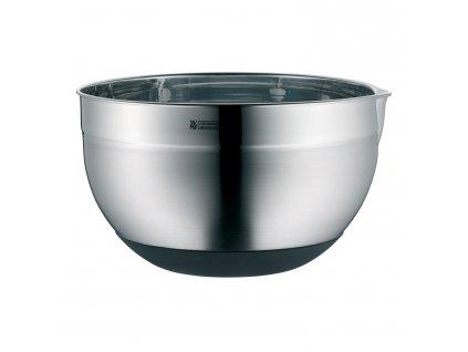 Kuchyňská nerezová miska Ø 24 cm se silikonovým dnem