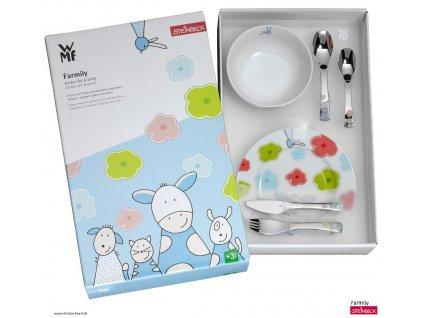 Dětský jídelní set 6dílný Farmily
