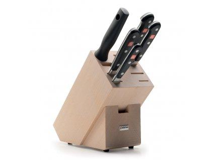 Sada nožů s blokem a ocílkou 6dílná Classic
