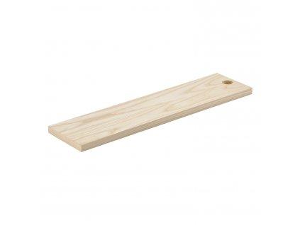 Dřevěné prkénko s otvorem jasan 59 x 15 cm SILVA ZONE