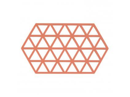 Podložka pod hrnce peach 24 x 14 cm TRIANGLES