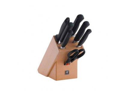 Sada nožů s blokem, ocílkou a nůžkami 8dílná ZWILLING® Pure