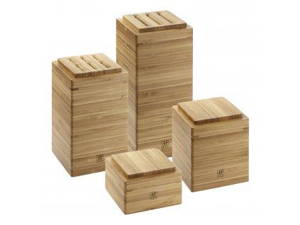 Set úložných bambusových boxů