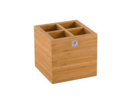 Bambusový box na kuchyňské náčiní velký