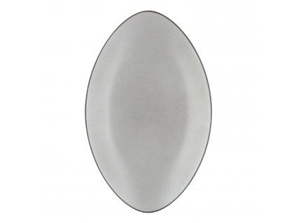 Talíř/podnos oválný 35 x 22,3 cm pepřová bílá Equinoxe