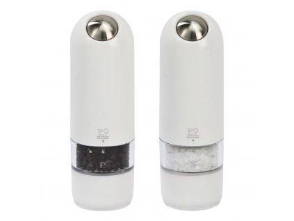 Dárkový set elektrických mlýnků na pepř a sůl bílý ALASKA Peugeot