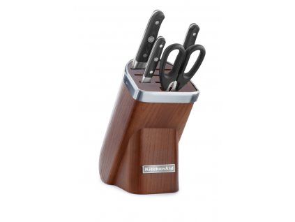 Sada nožů s dřevěným blokem a nůžkami 5dílná jasan Professional