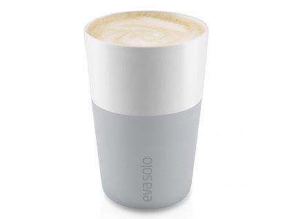 Termohrnky na café latte 360 ml 2 kusy světle šedé