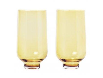 Set 2 skleniček FLOW matná zlatá 0,4 l Blomus