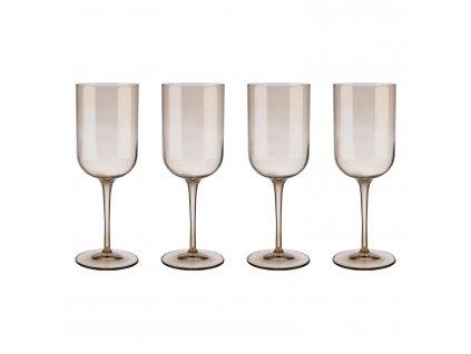 Set 4 sklenic na červené víno FUUM zlatavé sklo