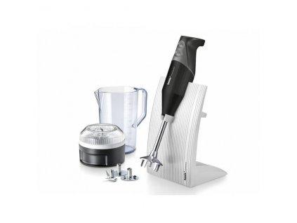 Tyčový mixér Bamix SwissLine M200 černý + Multifunkční krouhač Bamix SliceSy