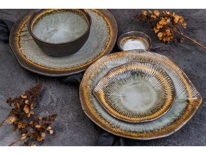 Čtvercová miska na omáčku Akane Grey 7 cm