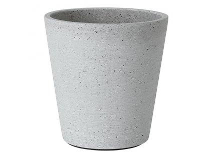 Květináč Coluna světle šedý Ø 14 cm