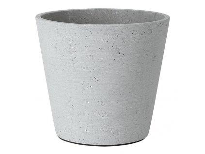Květináč Coluna světle šedý Ø 18 cm