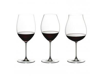 Tasting Set na červené víno Veritas - 3 různé sklenice