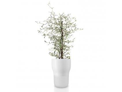 Samozavlažovací keramický květináč křídově bílý Ø 13 cm Eva Solo
