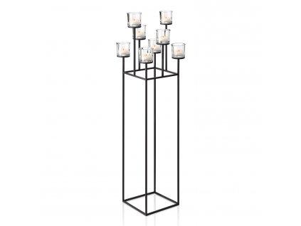 Stojací svícen pro 8 čajových svíček v nordickém stylu NERO 128 cm Blomus
