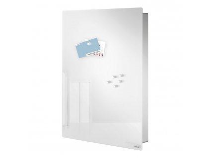 Skříňka na klíče s magnetickými dvířky VELIO bílá 40 x 30 cm