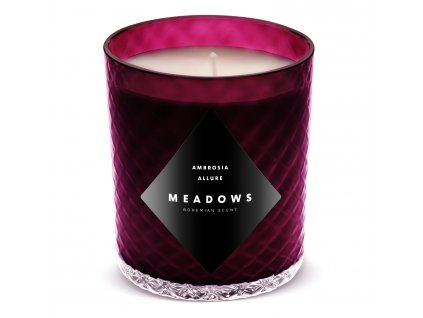Vonná svíčka Ambrosia Allure medium fialová