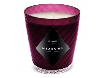 Vonná svíčka Ambrosia Allure mini fialová Meadows