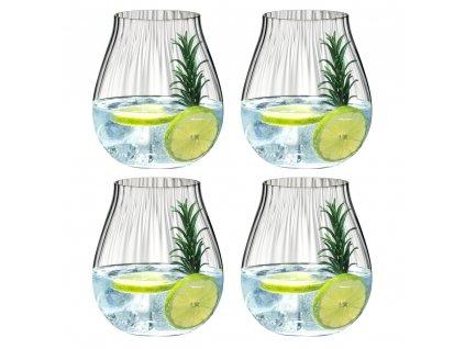 """Set 4 sklenic na Gin Optical """"O"""" Riedel"""