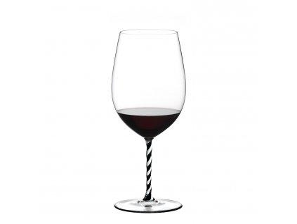 Sklenice Bordeaux Grand Cru Black and White Twisted Fatto a Mano