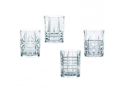 Set 4 sklenic na whisky Highland