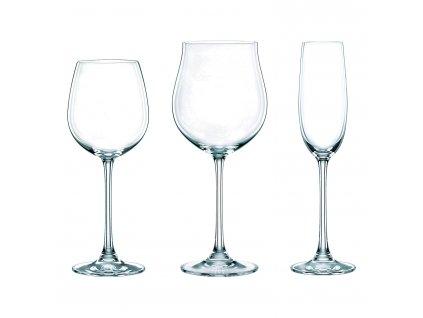 Výhodné balení 18 kusů sklenic na červené víno/bílé víno/šampaňské Vivendi Premium