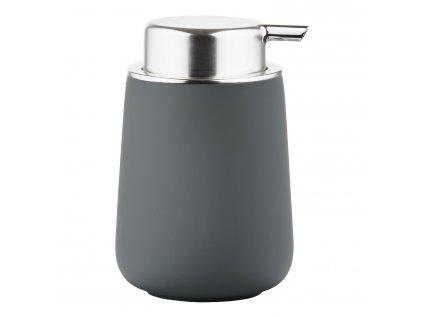 Dávkovač na mýdlo porcelánový 11,5 cm grey NOVA ONE