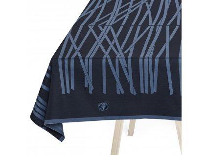Ubrus black blue 350 x 165 cm MIKADO