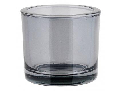 Svícen malý NERO kouřové sklo Blomus