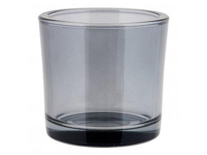 Svícen střední NERO kouřové sklo