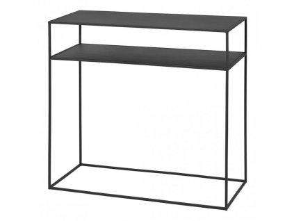 Konzolový odkládací stolek s poličkou FERA černý Blomus