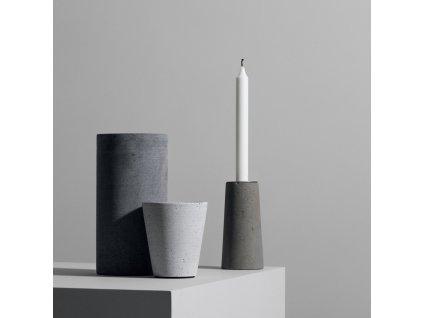 Květináč Coluna světle šedý Ø 11 cm