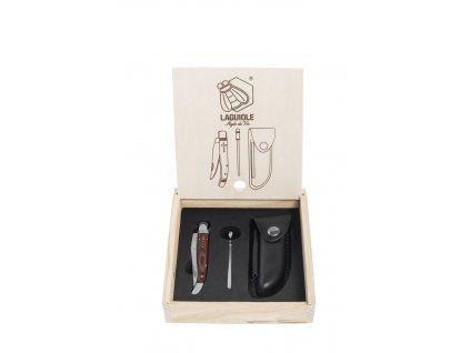 Kapesní nůž s brouskem a pouzdrem Laguiole Luxury, rukojeť palisandr