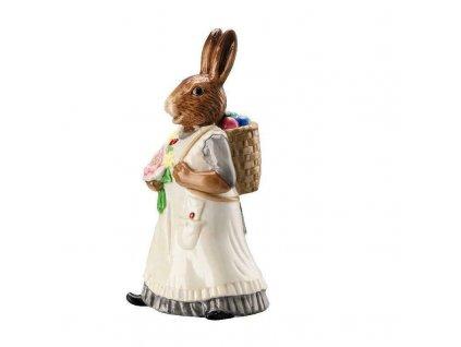 Hutschenreuther Hasenfiguren Bunny Lady Rabbit Women With Basket